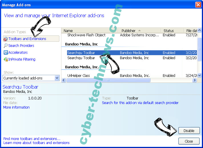 MacVX virus IE toolbars and extensions
