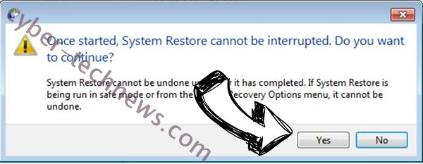 Com2 ransomware virus removal - restore message