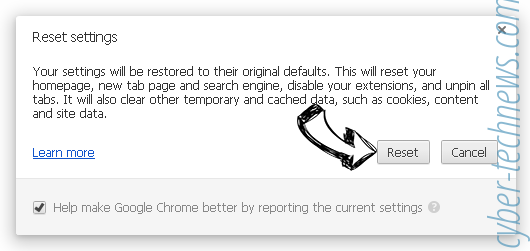 hidemysearches.com Chrome reset