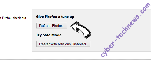 Tropical.central-messages.com Firefox reset