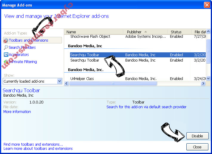 Advance PC Solutions IE toolbars and extensions