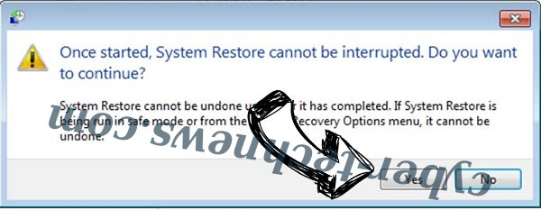 Acccess ransomware removal - restore message