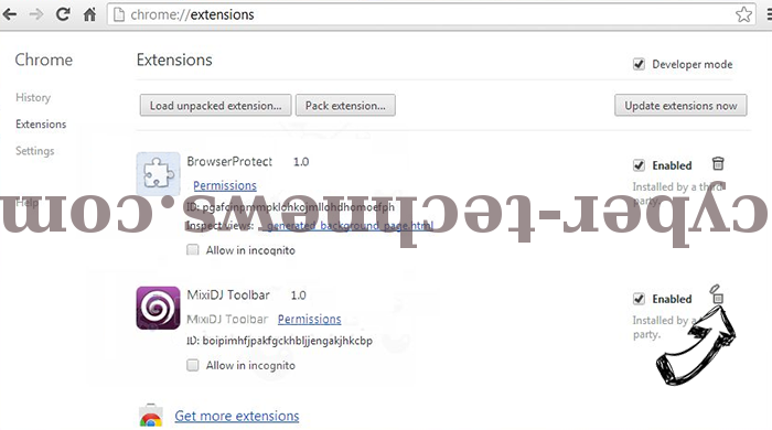 Optimalsearch.me Chrome extensions remove