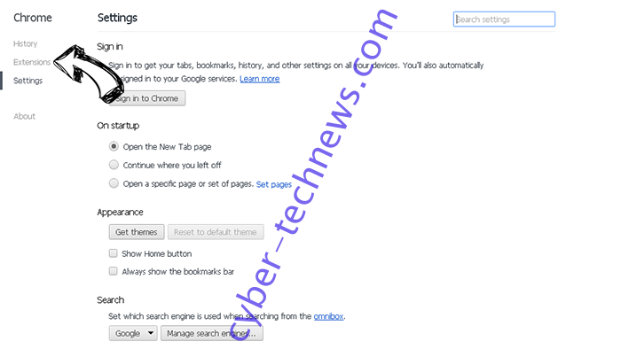 World Time News Virus Chrome settings