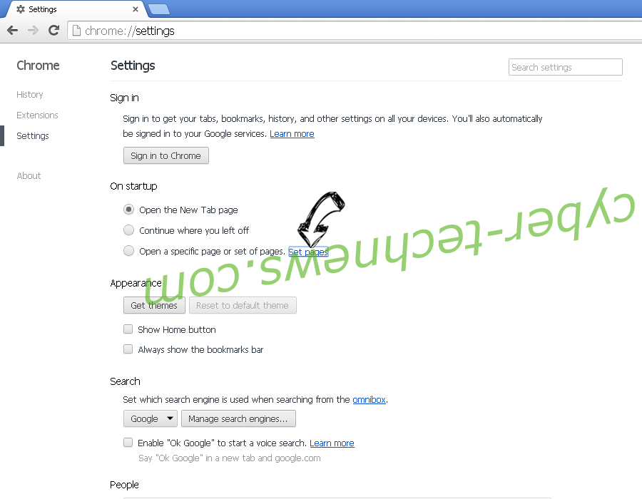 Get Easy Templates Pro redirect Chrome settings