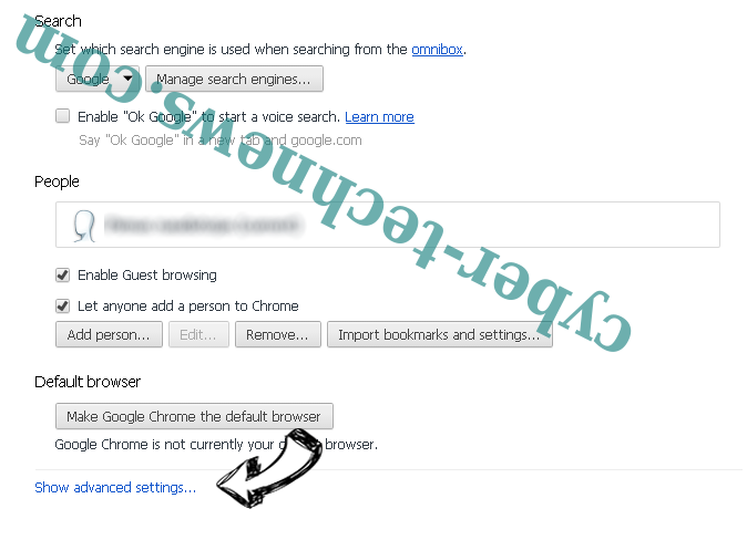 Get Easy Templates Pro redirect Chrome settings more