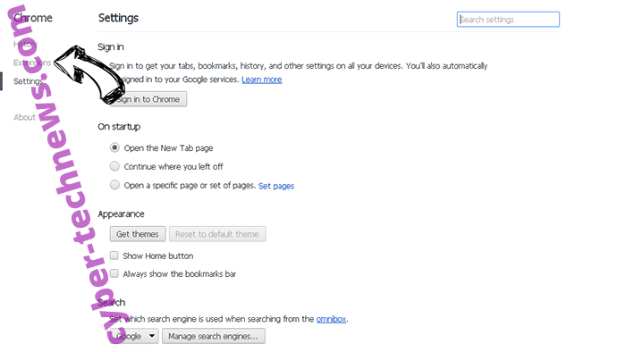 Your Free Online Manuals Virus Chrome settings