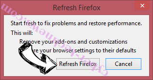 Advertise ads Firefox reset confirm