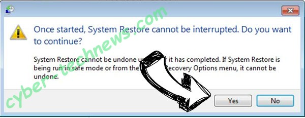 Coharos Virus removal - restore message