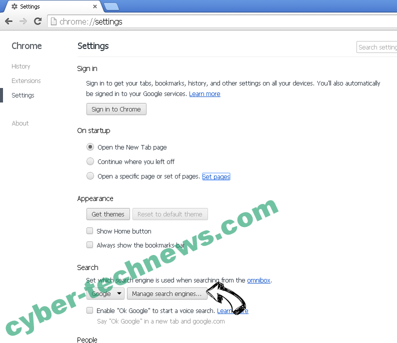 EasyWay Search Redirect Chrome extensions disable