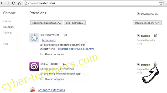 search.htrackyourtransitinfo.com Chrome extensions remove