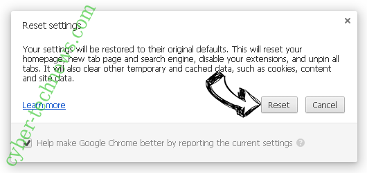 My Login Helper redirect Chrome reset