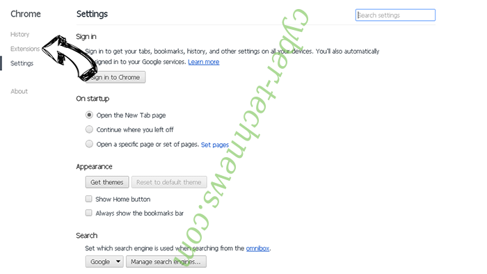 QuickMail Hijacker Chrome settings