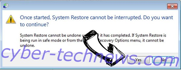 .Verasto virus removal - restore message