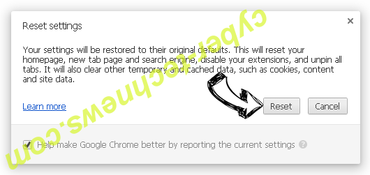 Checkingforward Chrome reset