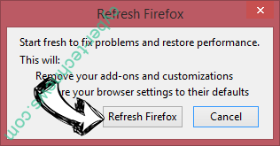 Checkingforward Firefox reset confirm