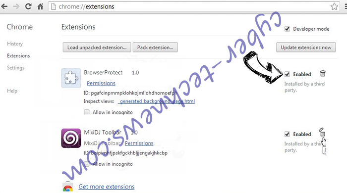 Segurazo Antivirus Virus Chrome extensions disable