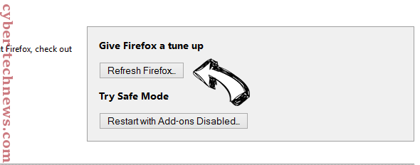 Plsppushme.com Pop-up Ads Firefox reset