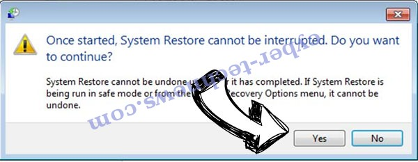 .Pack14 file virus removal - restore message