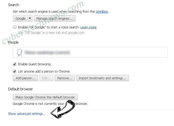 Searchmo.xyz redirect Chrome settings more