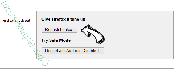 Robotornotchecks.site pop-up ads Firefox reset