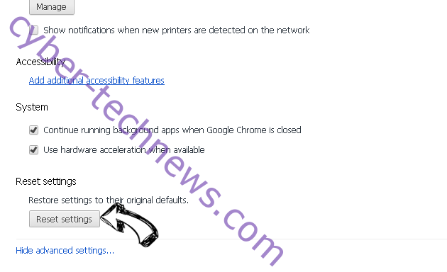 securesearch.site Chrome advanced menu