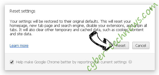 Start.me Chrome reset