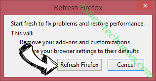 Start.me Firefox reset confirm