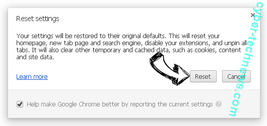 Search.fooriza.com Chrome reset