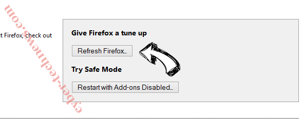 Search.fooriza.com Firefox reset
