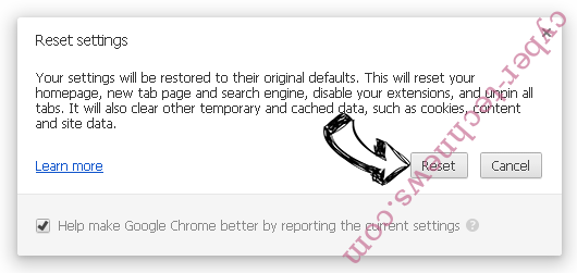 Start.yoursearch.me Chrome reset