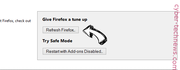 Search.Browserio.com Virus Firefox reset