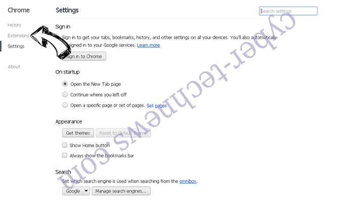 Mysites123.com Chrome settings