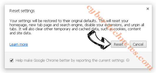 Goweb App Chrome reset