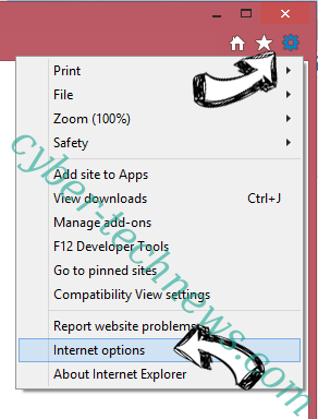 Goweb App IE options