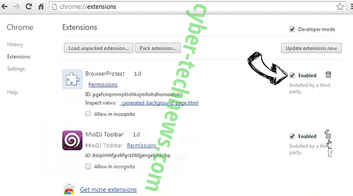 Yoga Search Extension Chrome extensions disable