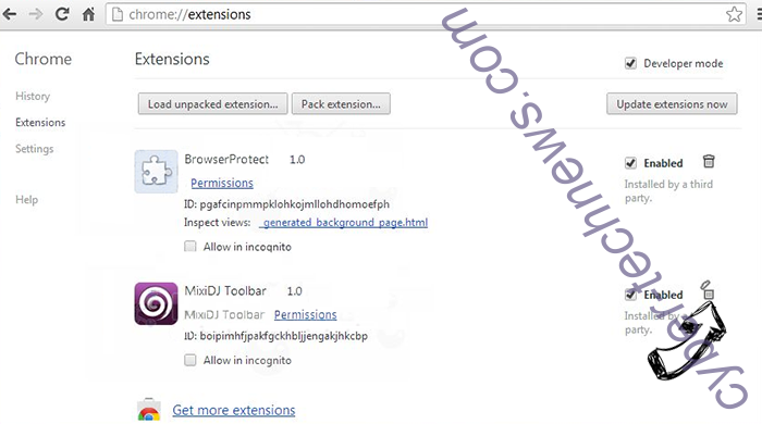 Yoga Search Extension Chrome extensions remove