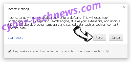 Searchet.com Chrome reset