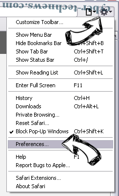 Strixchase.com virus Safari menu