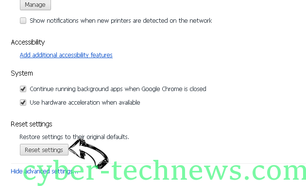 SearchShield Chrome advanced menu
