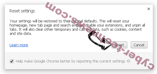 nJoyMusic Now Chrome reset