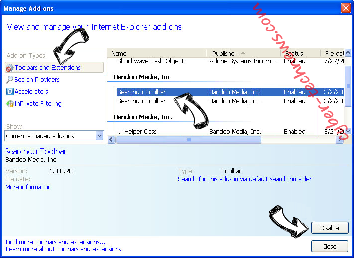 SearchShield IE toolbars and extensions