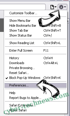 netfind.com virus Safari menu
