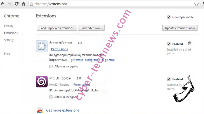 FunCustomCreations MyWay Chrome extensions remove