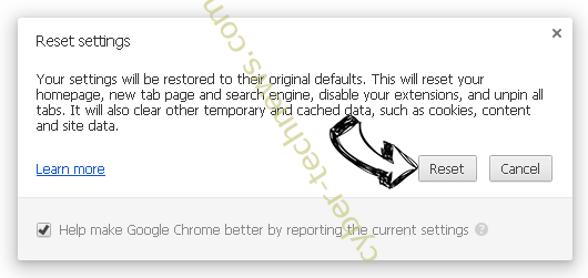 Kickay.com Redirect Chrome reset