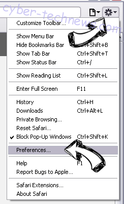 Edentalproblem virus Safari menu