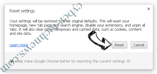 Microsoft Warning Alert Scam Chrome reset