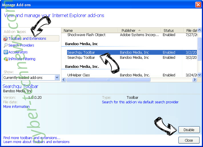 Goto.searchpro.club IE toolbars and extensions