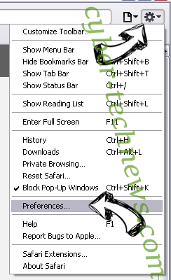 Goto.searchpro.club Safari menu