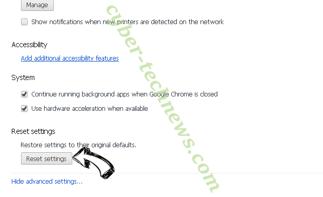 Flake.creditcable.info Chrome advanced menu